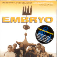 "EMBRYO ""ONE NIGHT ON THE JOAN MIRO FOUNDATION"" (2CD)"