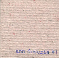 "ANN DEVERIA - #1 (3""CD-R (ED. LIM.))"