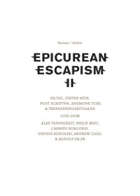 V/A - EPICUREAN ESCAPISM II (CD+DVD (ED. LIM.))