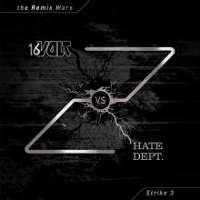 "16 VOLT/HATE DEPT. ""THE REMIX WARS: STRIKE 3 (BLACK)"" (LP (LTD. ED.))"